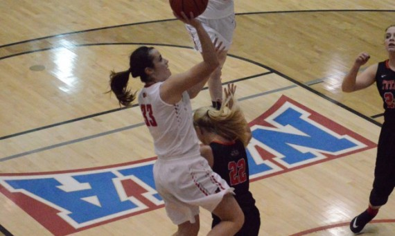Junior Mikayla Leyden did a bit of everything for No. 2 SXU in a 70-65 win over IUSB in the CCAC First Round