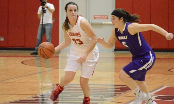 Junior Mikayla Leyden had 19 points and 12 rebounds in No. 2 SXU's tough 102-94 loss to No. 7 Olivet in the CCAC Semifinals