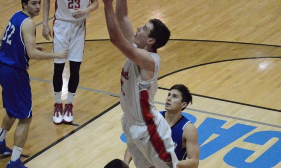 Sophomore Quinn Niego scored a career-high 25 points in helping lead SXU over TIU Wednesday in the CCAC First Round