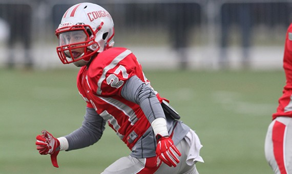 Sophomore Robbie Brindley seals SXU's 24-21 road win over Ave Maria (Fla.) with a late interception Saturday
