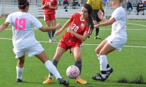 Junior Christina Sperando had SXU's first goal against Trinity Christian Wednesday afternoon