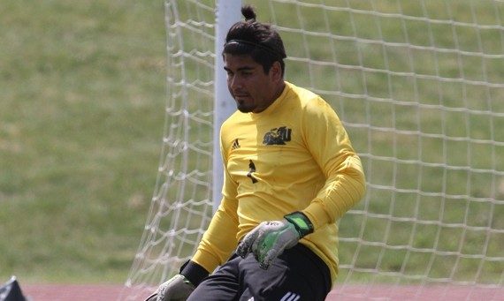 Sophomore Frank Valle had a game-saving stop on a PK with 25 seconds left in regulation in SXU's 1-0 OT win Saturday