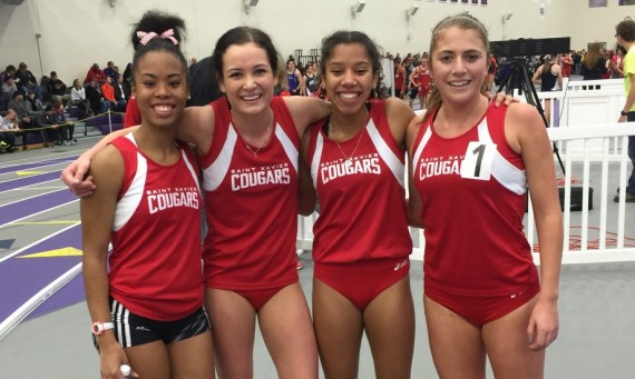The SXU women's track team had its Distance Medley Relay (DMR) improve its qualifying time at five seconds Saturday