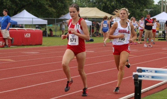 Junior Nicole Watkins ran the 800 and 1500 meter runs for SXU at the 2016 NAIA Outdoor Track & Field National Championships