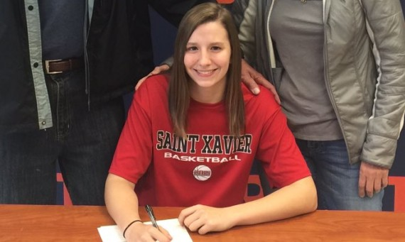 Maddie Welter of Buffalo Grove High School has signed with Saint Xavier University women's basketball for next season
