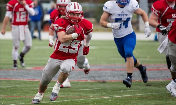 The Saint Xavier University football team earned a No. 11 national ranking in the NAIA Spring Top 25 Poll released Monday