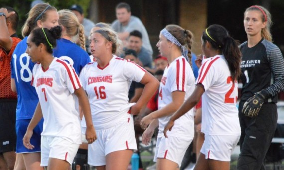 The SXU women's soccer team dropped its CCAC opener, 1-0, to Trinity International Tuesday night at Deaton Field