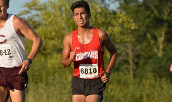 Junior Abel Hernandez took ninth place overall in the USF Twilight Invite in Channahon, Ill., Friday evening