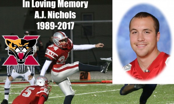 Saint Xavier and its Athletics Department mourns the loss of former football player A.J. Nichols