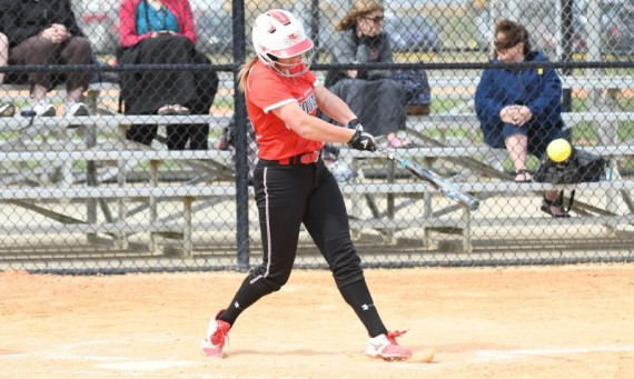 Senior Callie Brown had a big day at the plate in a road doubleheader against Lewis University Thursday