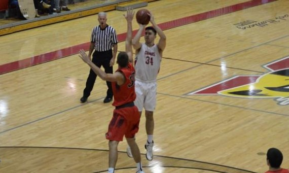 Junior Niko Cahue had a game-high 27 points in Saint Xavier's 108-79 road loss to Goshen College (Ind.) Saturday afternoon