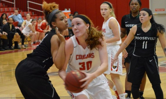 Junior Brittany Collins logged her 13th double-double of the season in SXU's 103-78 home win over Roosevelt Saturday