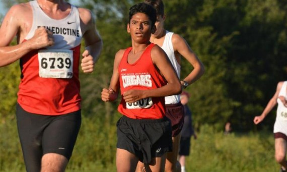 Freshman Gabriel Esparza had a personal-best time in the 5K of 15:56.83 for an 11th place finish at CCAC Championships