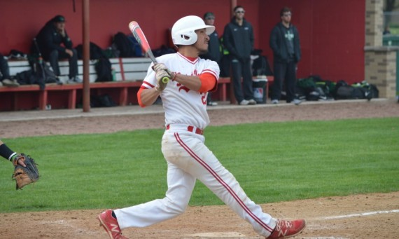 Junior Agustin Guerrero had a three-run homer to right field in his only at-bat Wednesday in SXU's 11-2 win