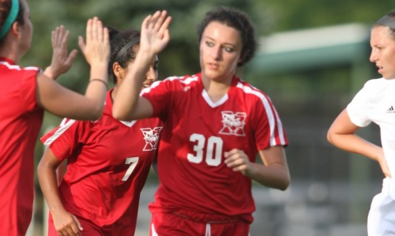 Senior Christina Sperando had two goals and an assist in SXU's 7-0 road win over Holy Cross College Saturday