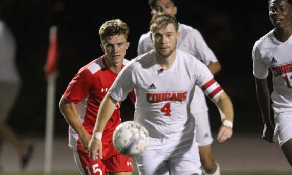 Senior Peter London scored the game-winning goal Saturday as time expired in the first half in a 1-0 win over Holy Cross