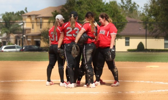 The No. 2 SXU softball team got a 9-0 win over Fisher College (Mass.) Sunday behind a perfect game by senior Callie Brown
