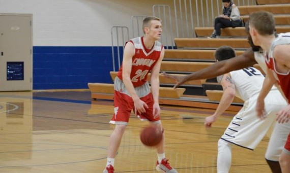Junior Jared Jones dropped seven three-pointers and 31 points on Saint Ambrose in SXU's 103-92 road win Wednesday night