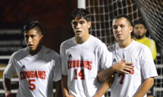 Orlando Tapia (left) and Kamil Szczesniak (right) combined for all three SXU goals Saturday in a 3-2 win over Judson