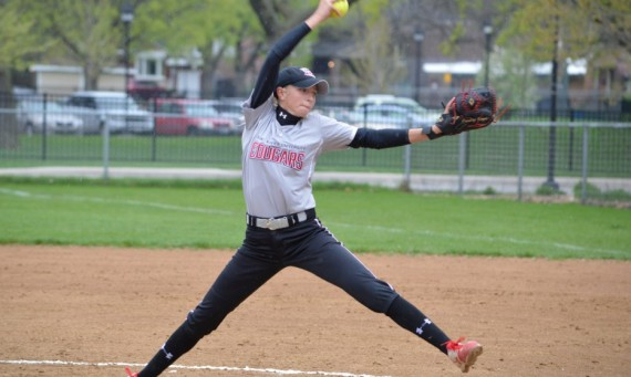 Junior pitcher Caroline Kuzel picked up both victories in relief in Saint Xavier's sweep of Robert Morris Wednesday