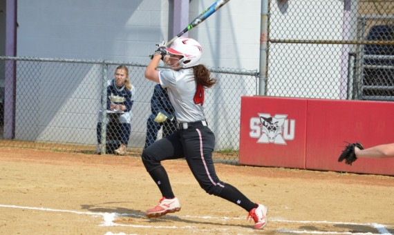 Freshman Lexxie Lux had the walk-off RBI single in the eighth inning of game one to give SXU a thrilling 5-4 win