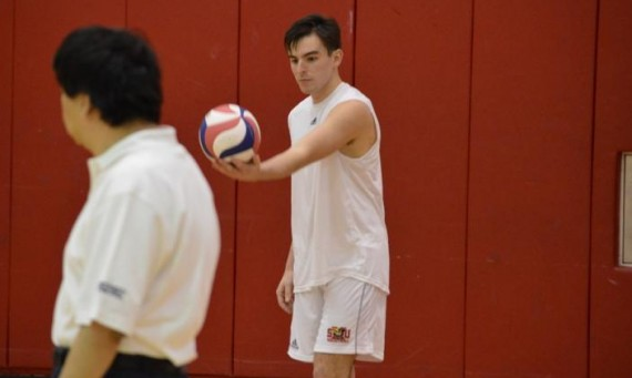 Senior Dan O'Keefe had five kills, five aces and four blocks in a road victory over IIT Friday night