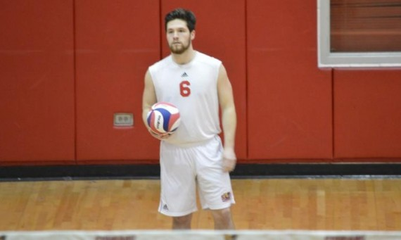 Sophomore Jake Olson had career-best totals of seven kills and eight digs against Lawrence Tech Saturday