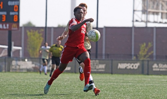 Senior Farai Tsingano helped the SXU defense keep Purdue-Northwest off the scoreboard Saturday in a 0-0 draw