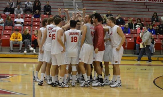 The SXU men's volleyball team dropped its conference opener to No. 5 Robert Morris Tuesday night in Arlington Heights, Ill.