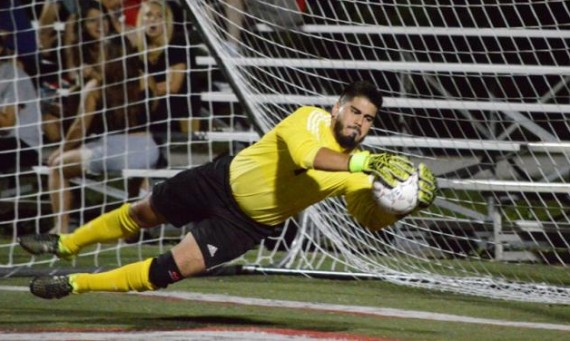 Junior Frank Valle had eight saves for the Cougars in a 0-0 tie with Calumet College Saturday