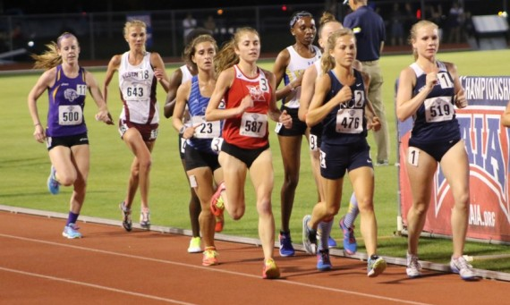 Junior Ellie Willging claimed her second national title in track at SXU by winning the outdoor 10K Thursday night
