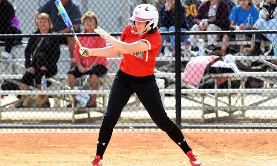 Freshman Tori Williams had four hits for SXU in Sunday's road doubleheader with Purdue-Northwest